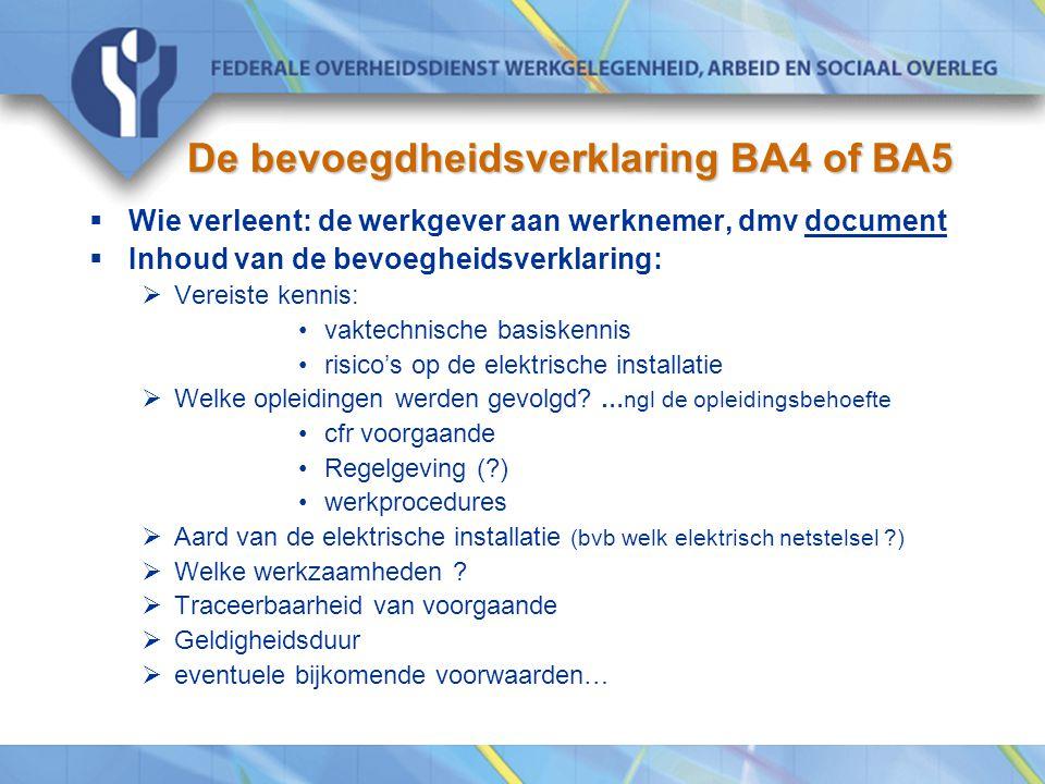 De bevoegdheidsverklaring BA4 of BA5
