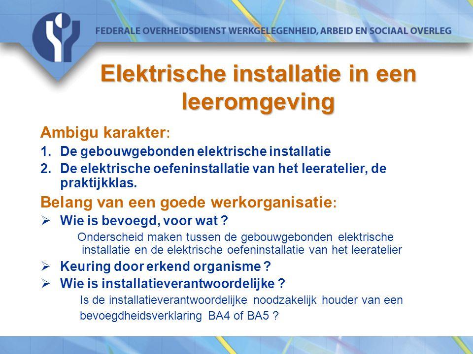 Elektrische installatie in een leeromgeving