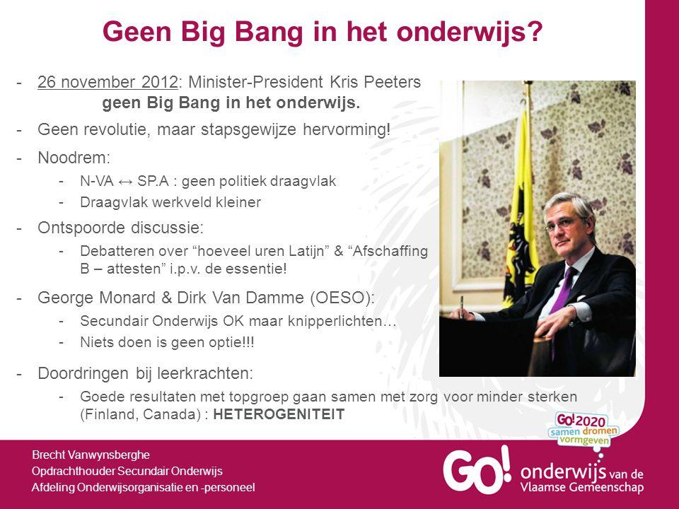 Geen Big Bang in het onderwijs