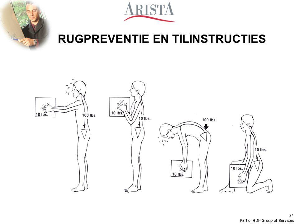 RUGPREVENTIE EN TILINSTRUCTIES