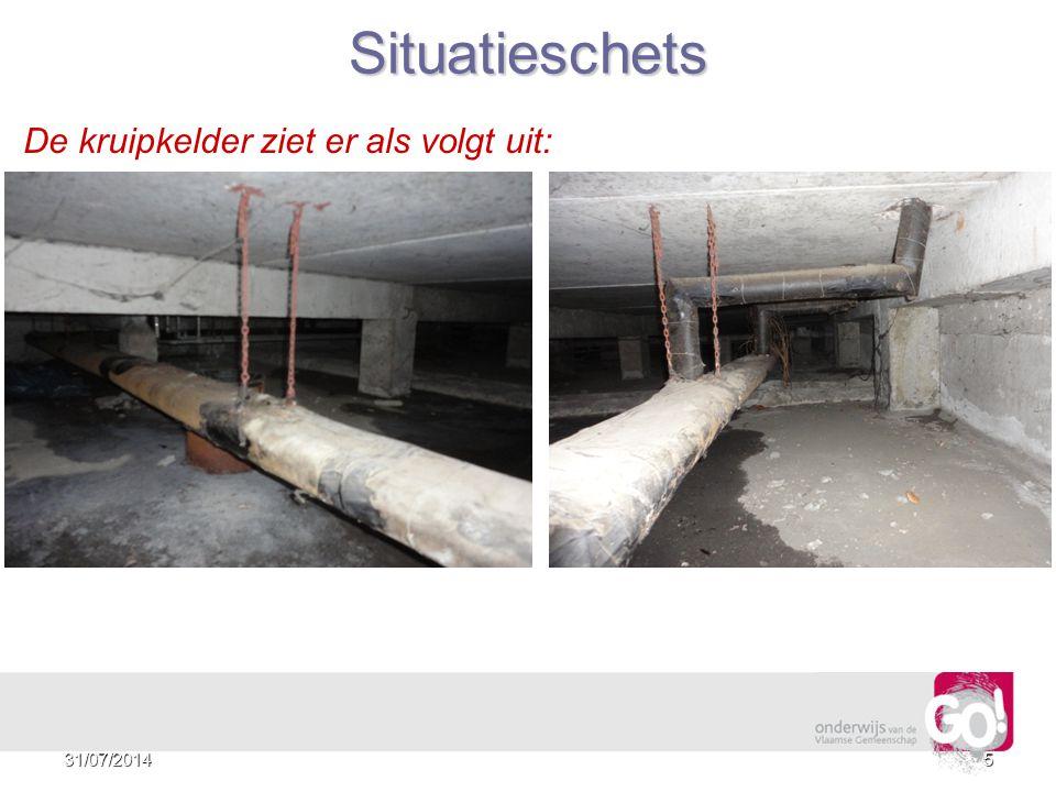 Situatieschets De kruipkelder ziet er als volgt uit: 4/04/2017