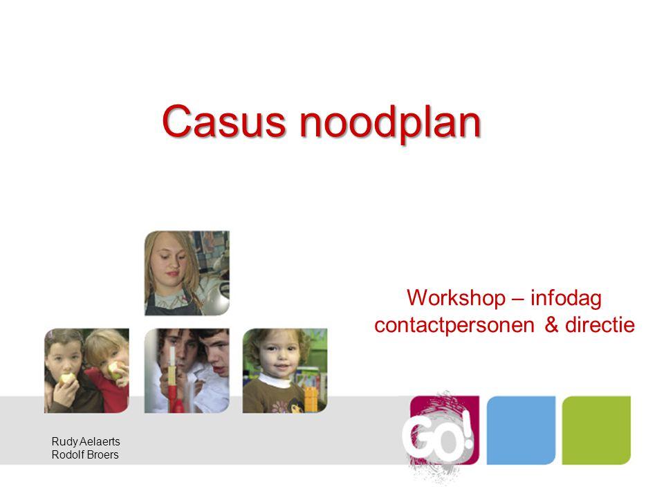 Workshop – infodag contactpersonen & directie