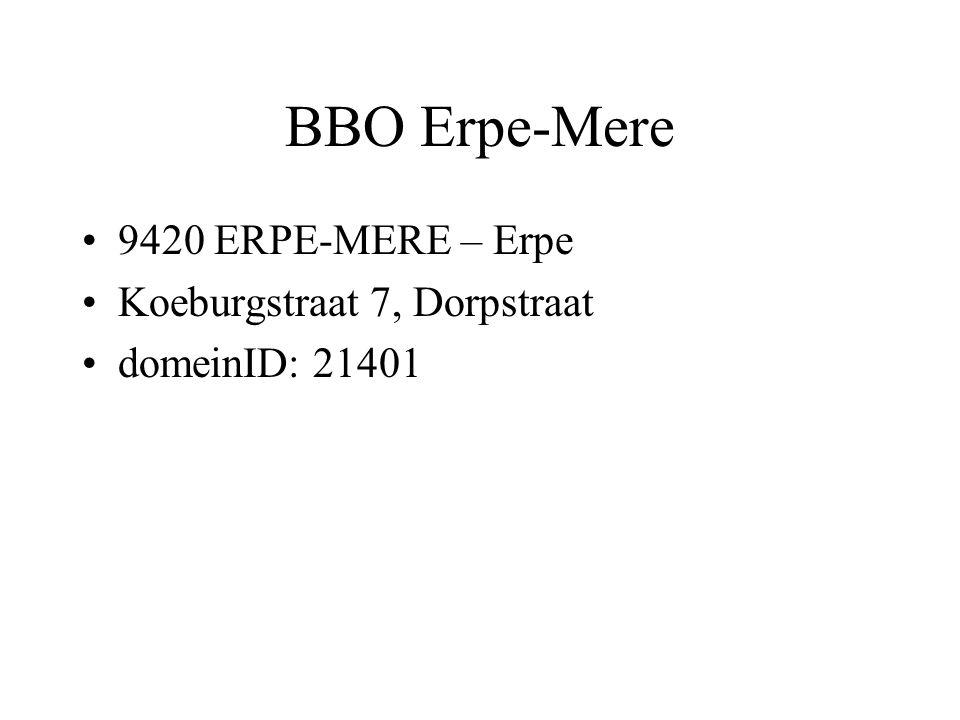 BBO Erpe-Mere 9420 ERPE-MERE – Erpe Koeburgstraat 7, Dorpstraat