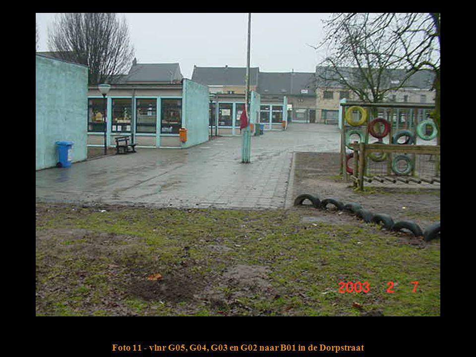 Foto 11 - vlnr G05, G04, G03 en G02 naar B01 in de Dorpstraat