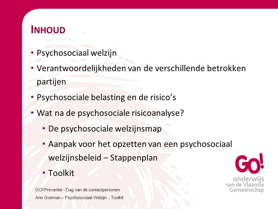 Inhoud Psychosociaal welzijn