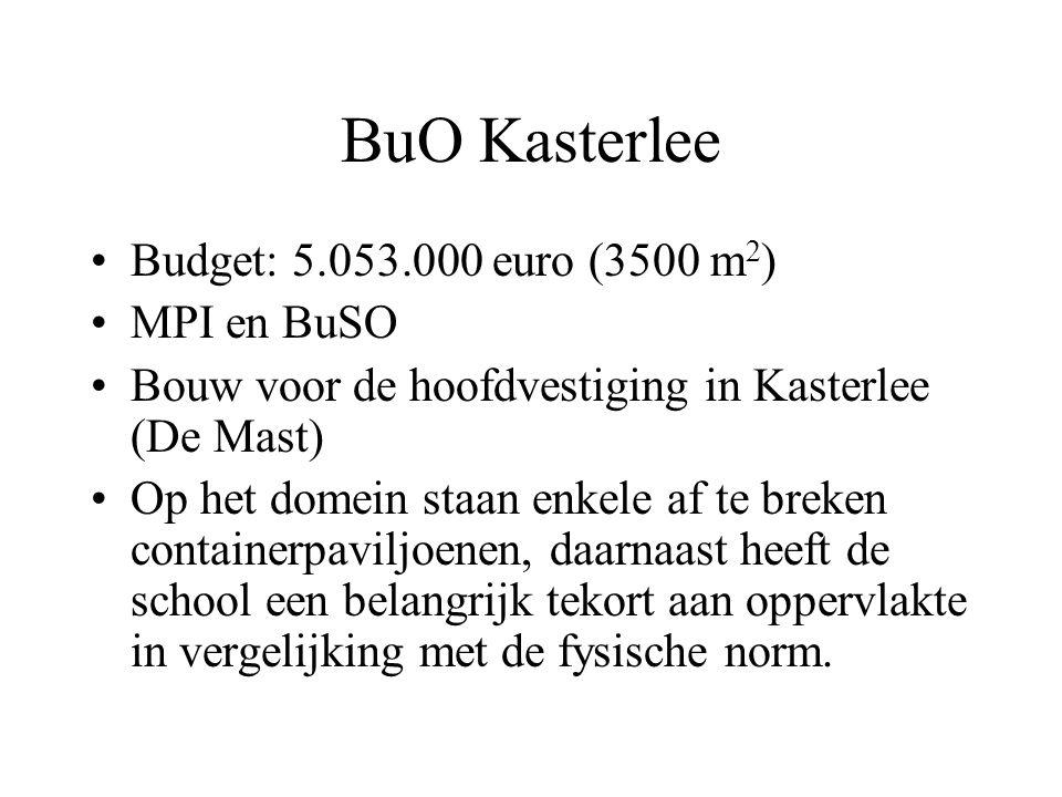 BuO Kasterlee Budget: 5.053.000 euro (3500 m2) MPI en BuSO