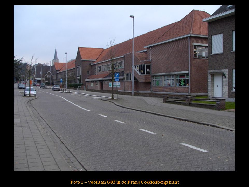 Foto 1 – vooraan G03 in de Frans Coeckelbergstraat