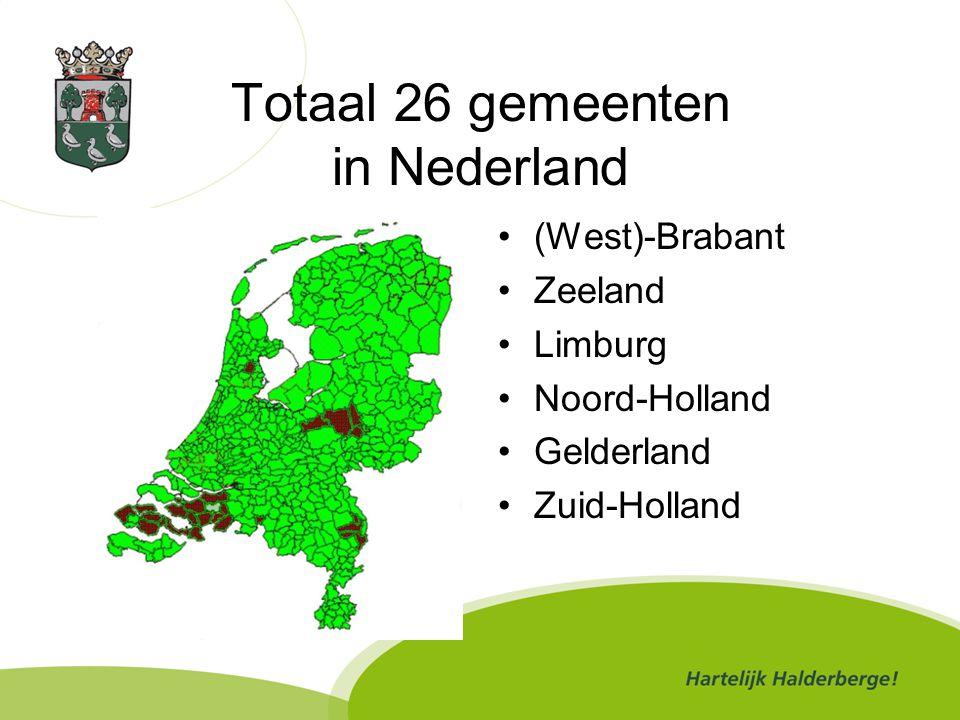 Totaal 26 gemeenten in Nederland