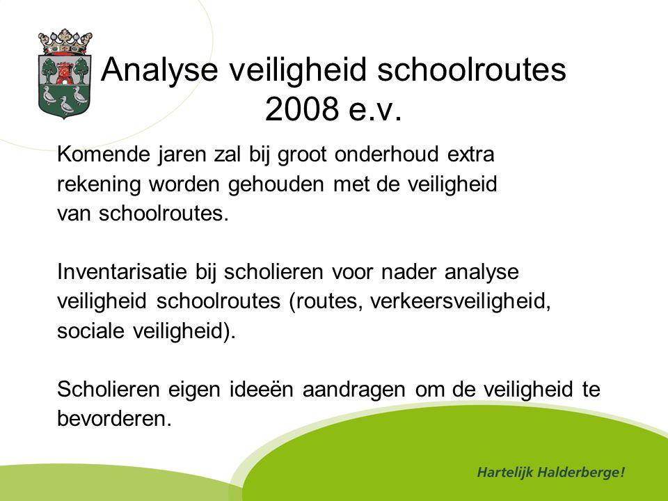 Analyse veiligheid schoolroutes 2008 e.v.