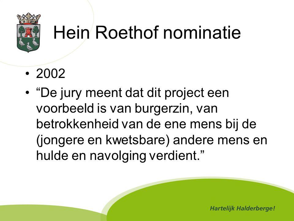 Hein Roethof nominatie
