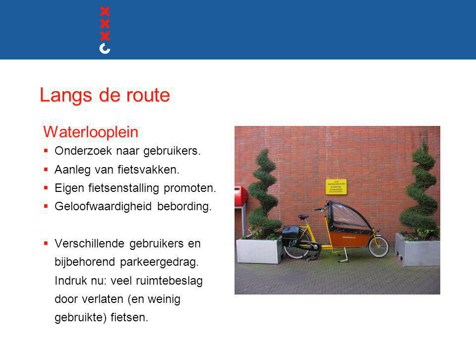 Langs de route Waterlooplein Onderzoek naar gebruikers.