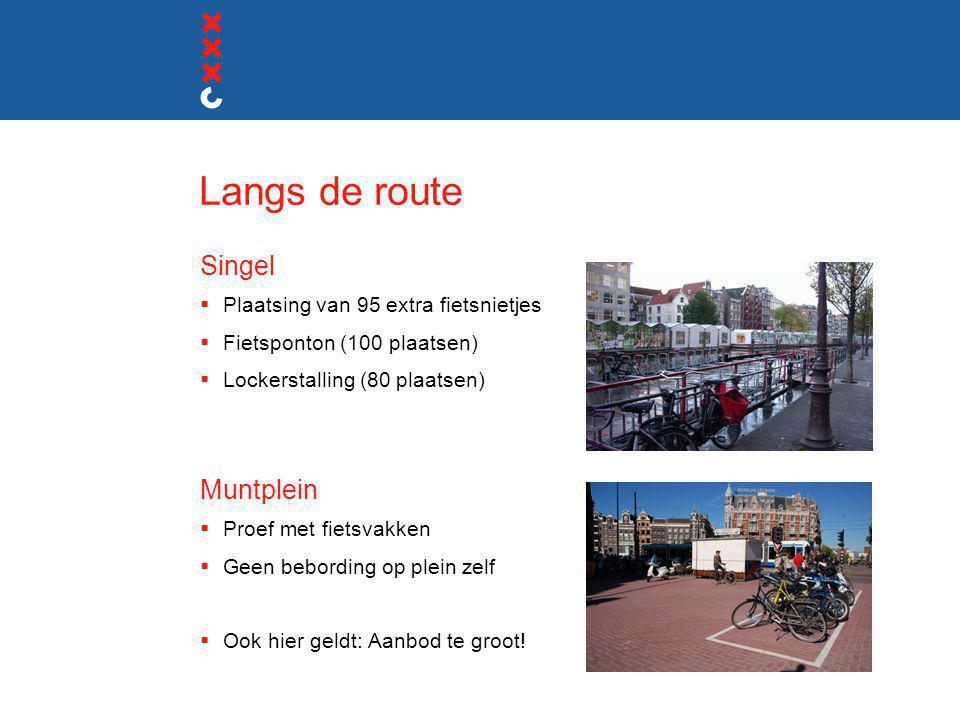 Langs de route Singel Muntplein Plaatsing van 95 extra fietsnietjes