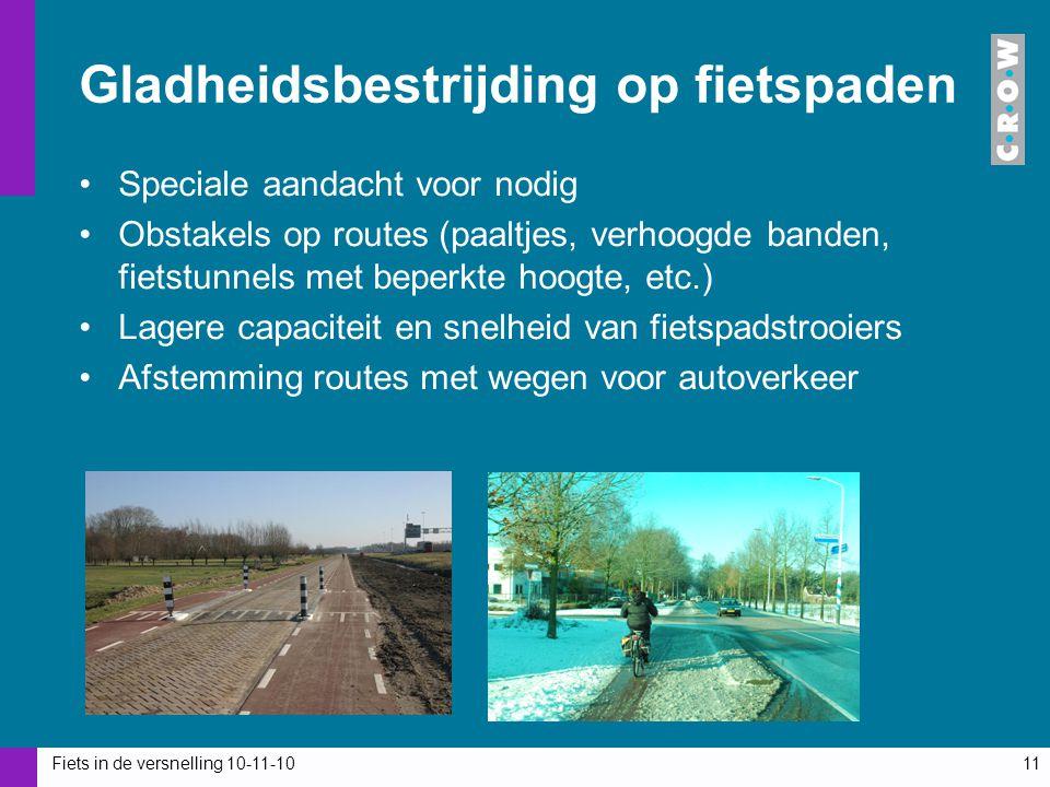 Gladheidsbestrijding op fietspaden