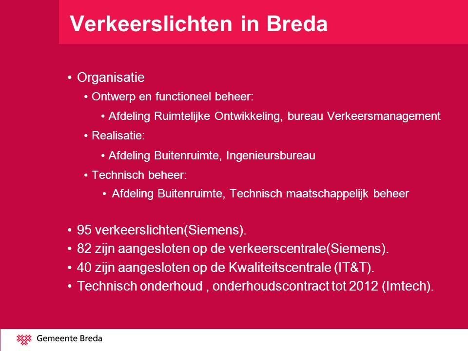 Verkeerslichten in Breda