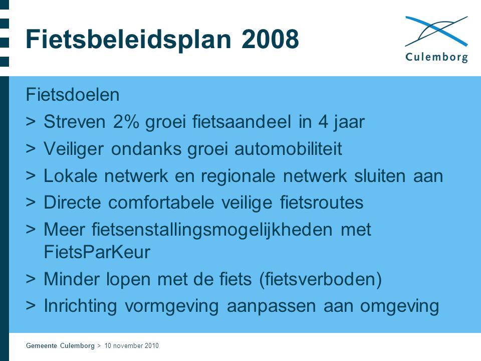 Fietsbeleidsplan 2008 Fietsdoelen