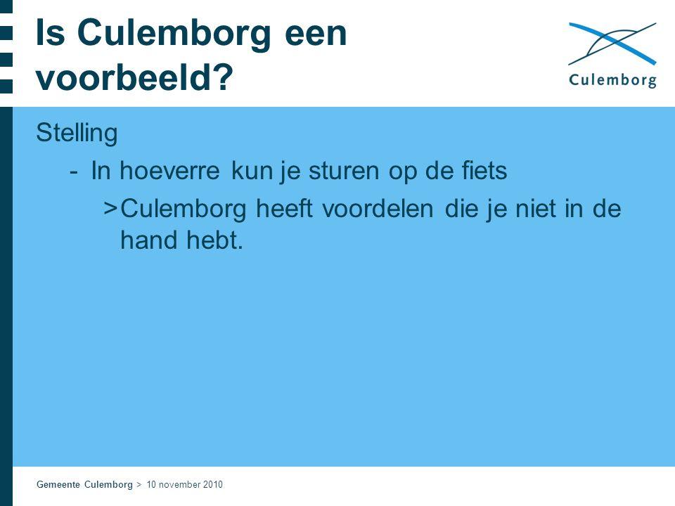 Is Culemborg een voorbeeld