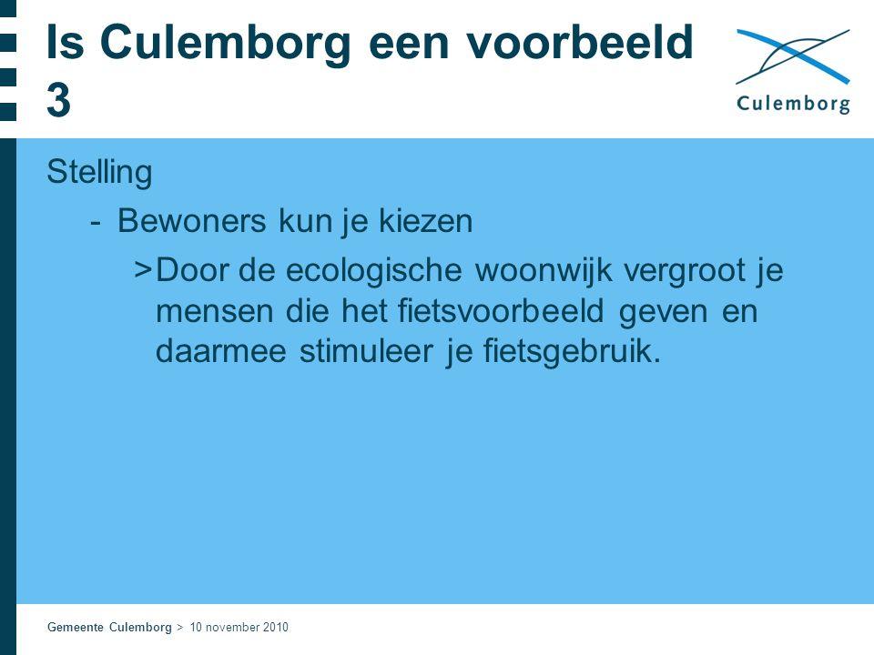 Is Culemborg een voorbeeld 3
