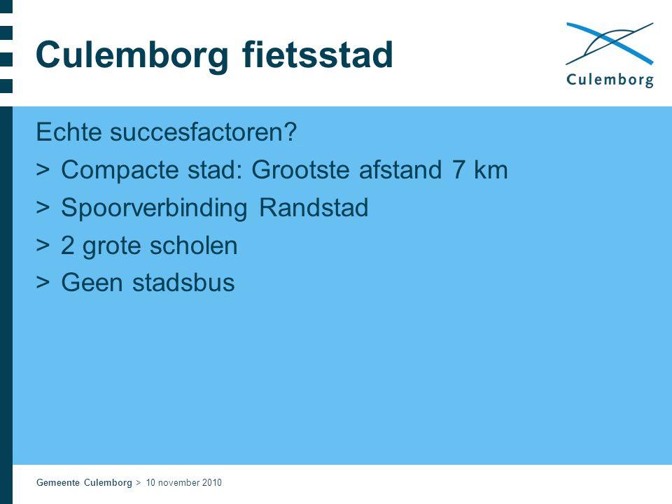 Culemborg fietsstad Echte succesfactoren