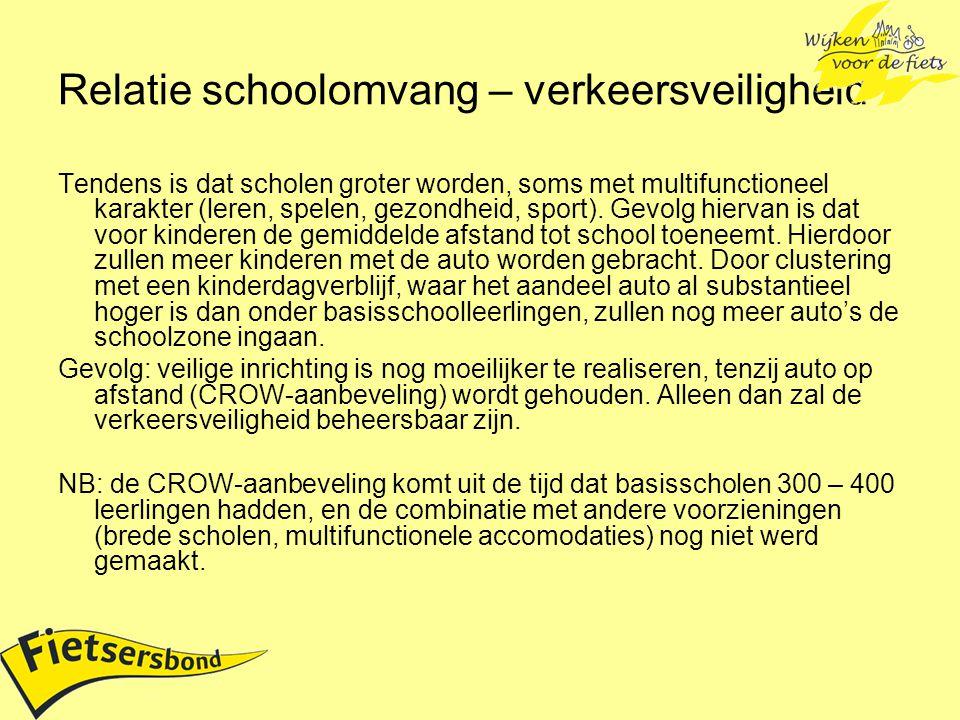 Relatie schoolomvang – verkeersveiligheid