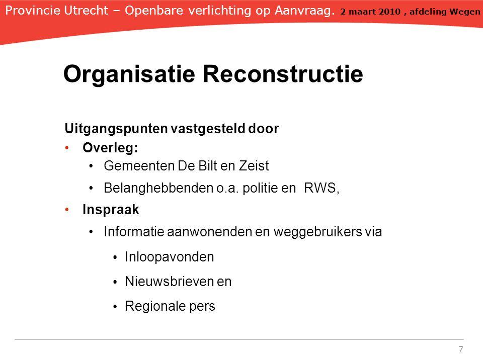 Organisatie Reconstructie