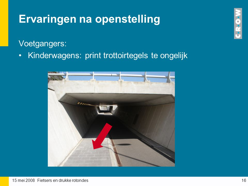 Ervaringen na openstelling