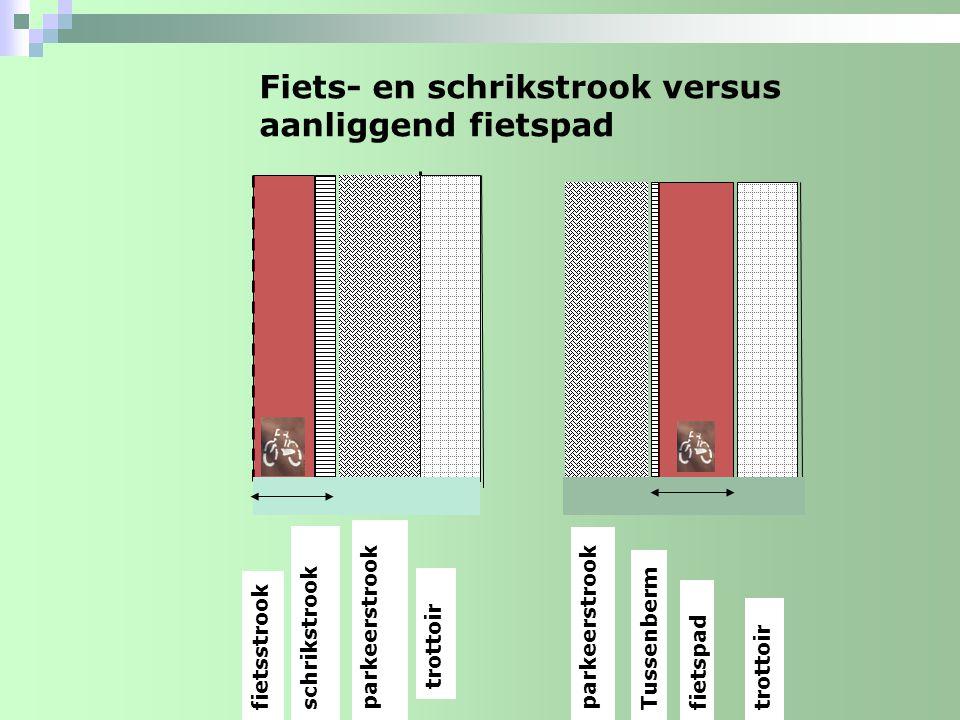 Fiets- en schrikstrook versus aanliggend fietspad