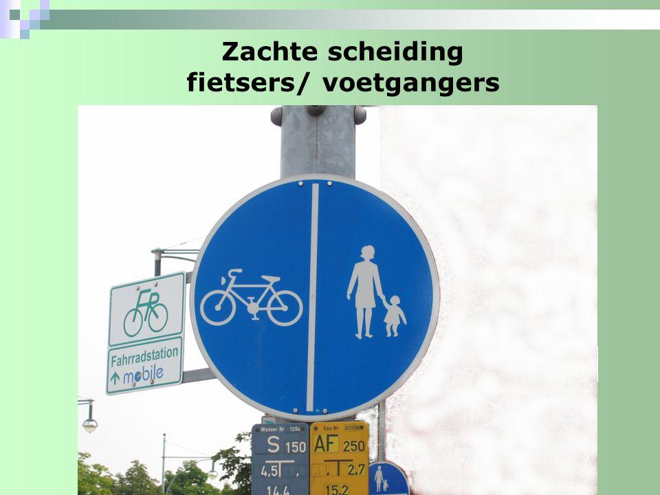 Zachte scheiding fietsers/ voetgangers
