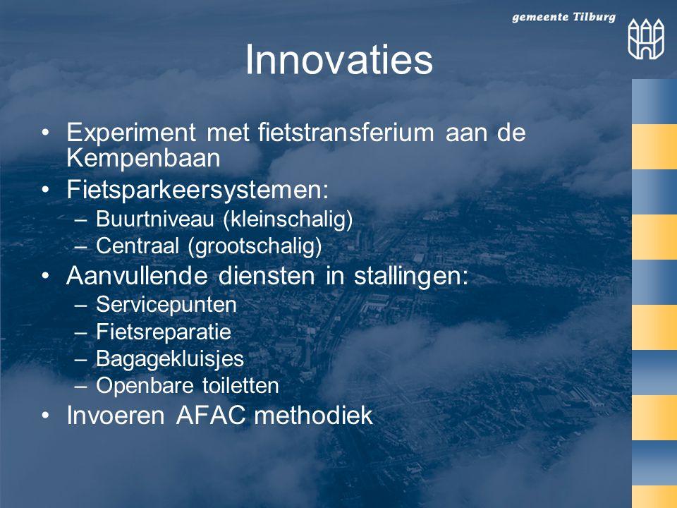 Innovaties Experiment met fietstransferium aan de Kempenbaan