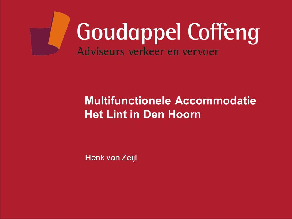 Multifunctionele Accommodatie Het Lint in Den Hoorn