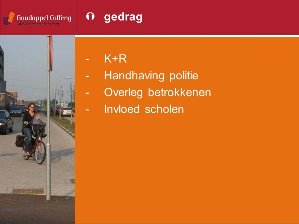 gedrag K+R Handhaving politie Overleg betrokkenen Invloed scholen