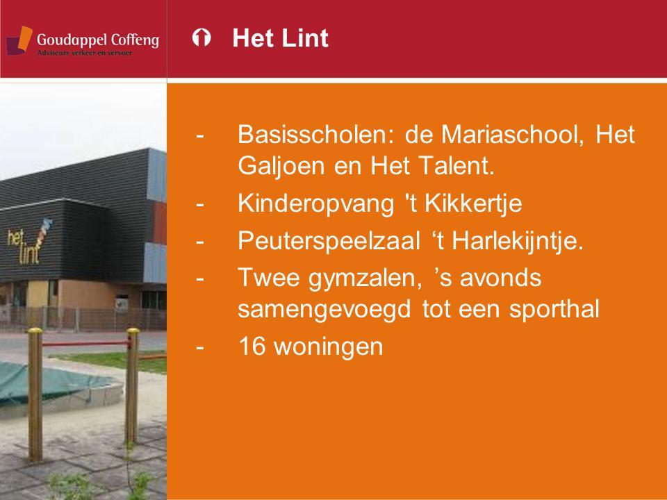 Het Lint Basisscholen: de Mariaschool, Het Galjoen en Het Talent. Kinderopvang t Kikkertje. Peuterspeelzaal 't Harlekijntje.