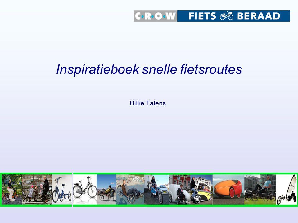Inspiratieboek snelle fietsroutes
