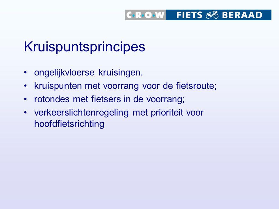 Kruispuntsprincipes ongelijkvloerse kruisingen.