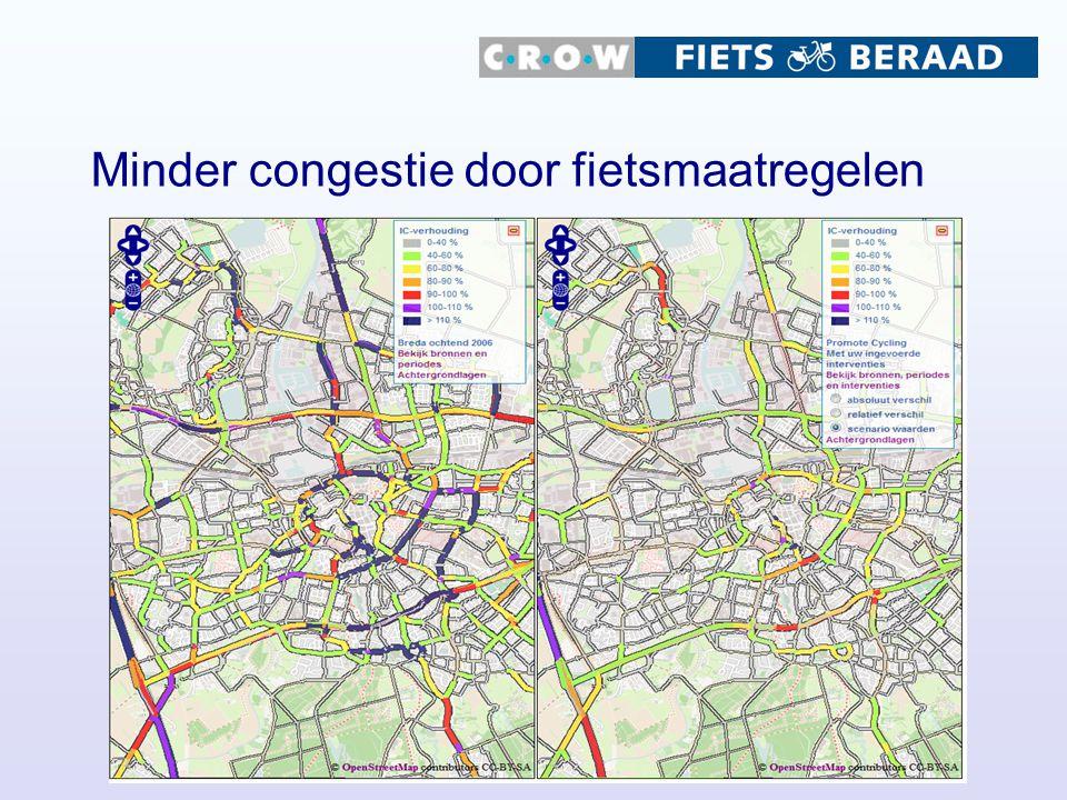 Minder congestie door fietsmaatregelen