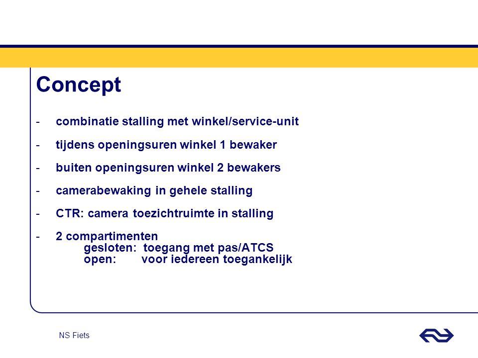 Concept combinatie stalling met winkel/service-unit