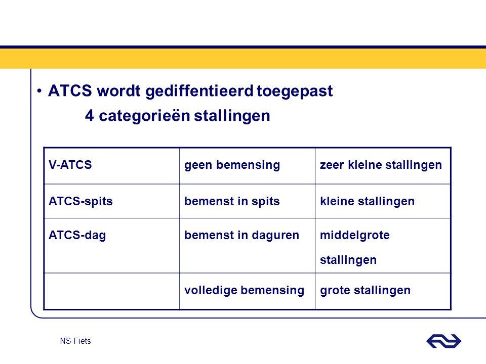 ATCS wordt gediffentieerd toegepast 4 categorieën stallingen