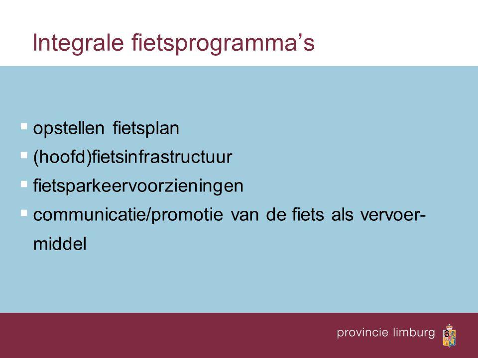 Integrale fietsprogramma's