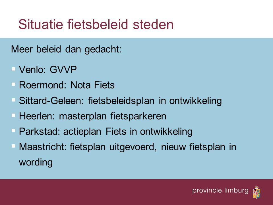 Situatie fietsbeleid steden