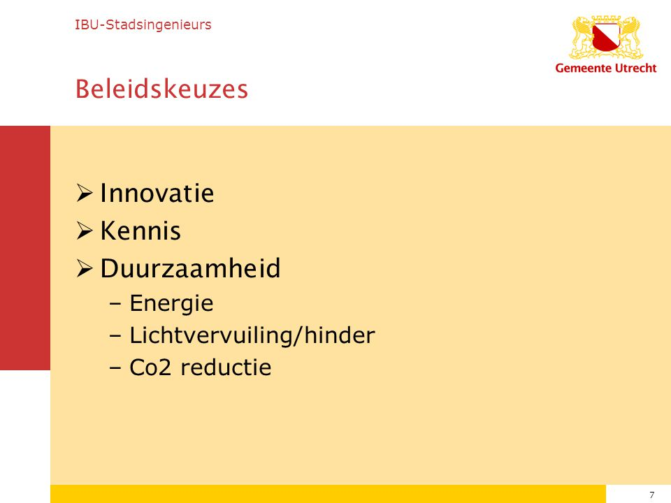 Beleidskeuzes Innovatie Kennis Duurzaamheid Energie