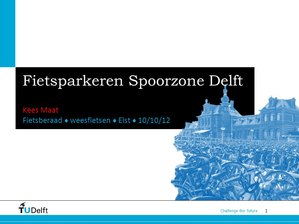 Fietsparkeren Spoorzone Delft