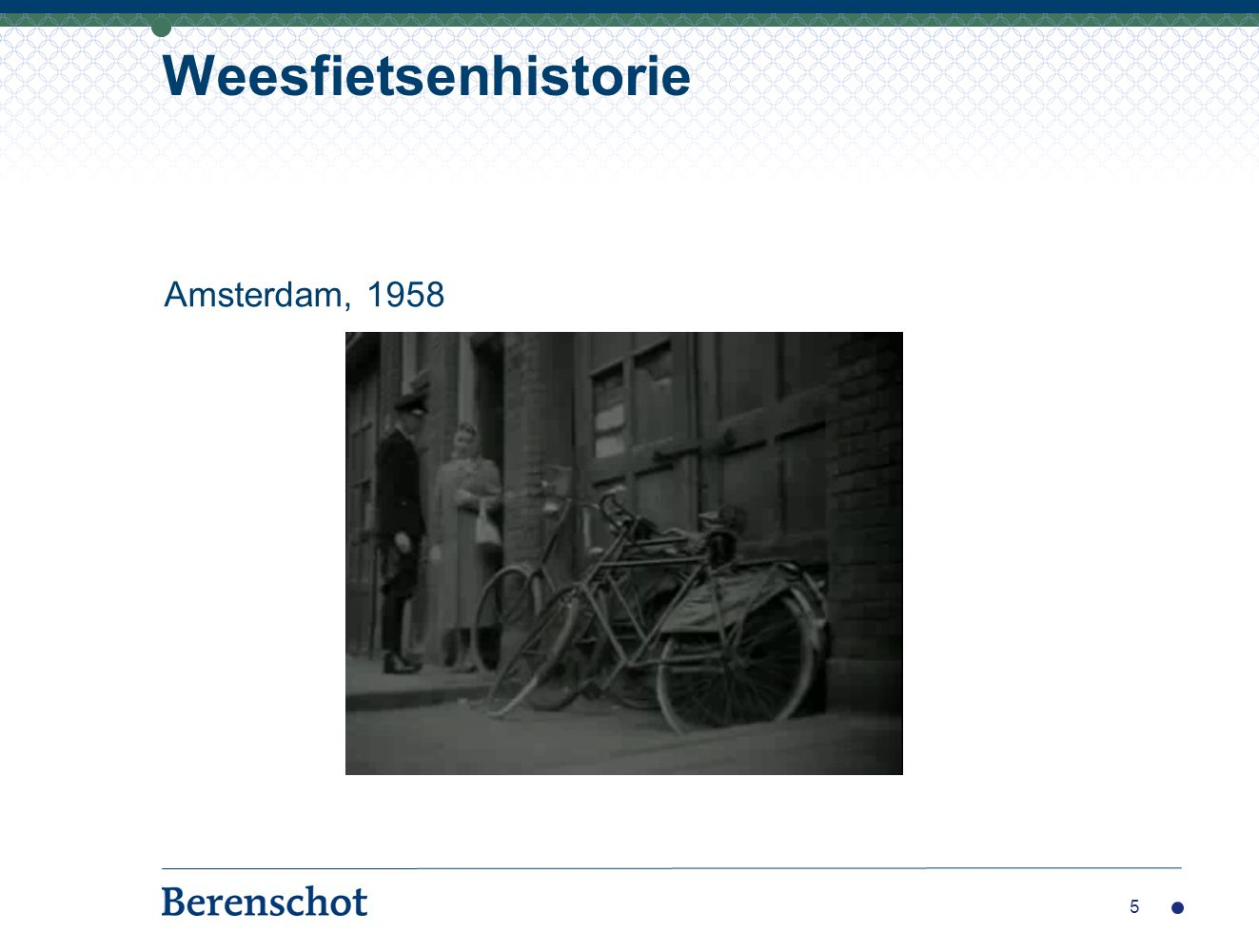 Weesfietsenhistorie Amsterdam, 1958