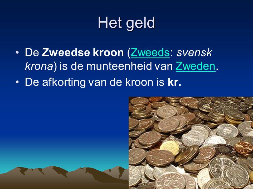 Het geld De Zweedse kroon (Zweeds: svensk krona) is de munteenheid van Zweden.