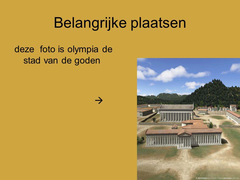 Belangrijke plaatsen deze foto is olympia de stad van de goden 