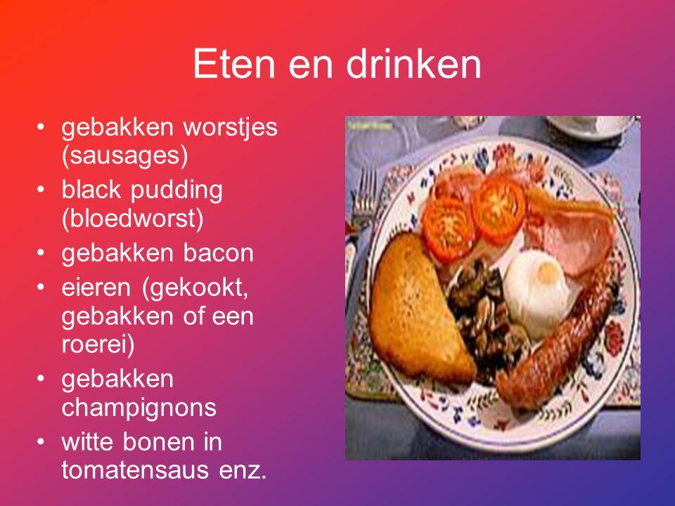 Eten en drinken gebakken worstjes (sausages)