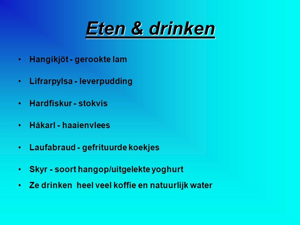 Eten & drinken Hangikjöt - gerookte lam Lifrarpylsa - leverpudding