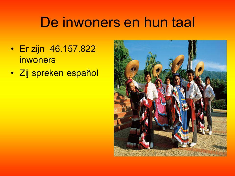 De inwoners en hun taal Er zijn 46.157.822 inwoners