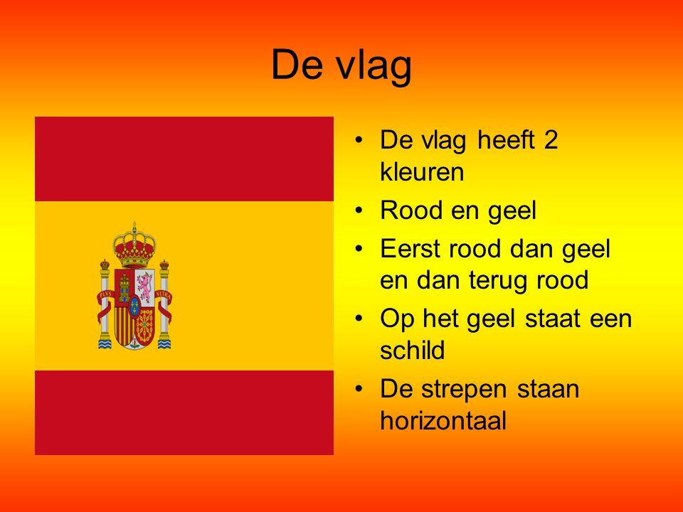 De vlag De vlag heeft 2 kleuren Rood en geel