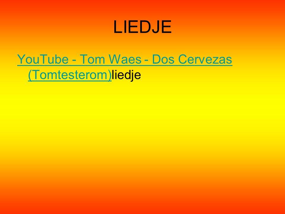 LIEDJE YouTube - Tom Waes - Dos Cervezas (Tomtesterom)liedje