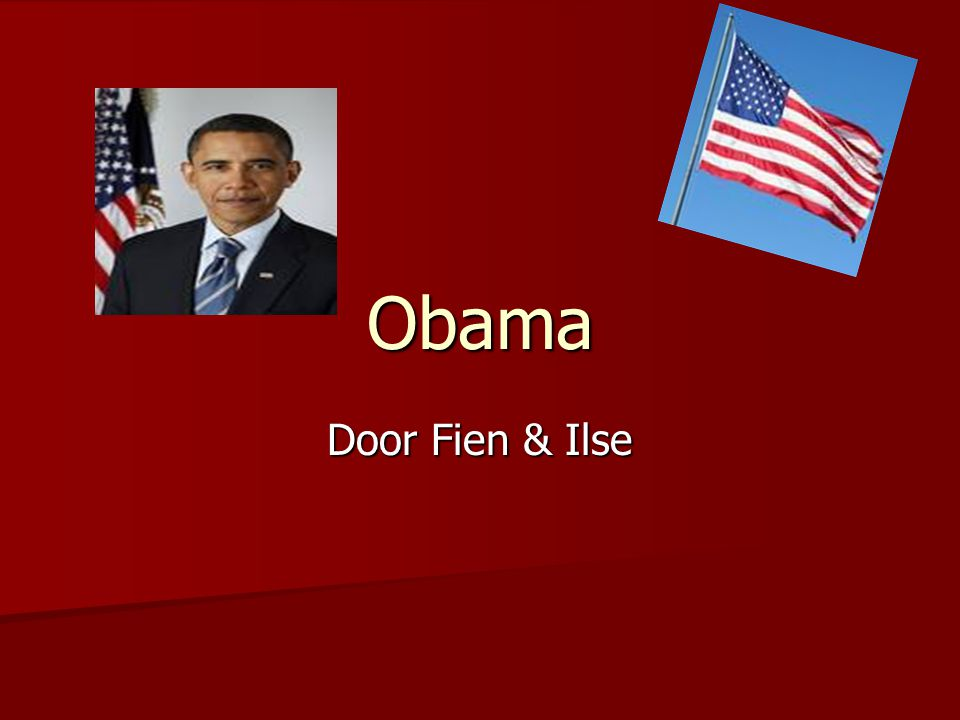 Obama Door Fien & Ilse Samen zeggen