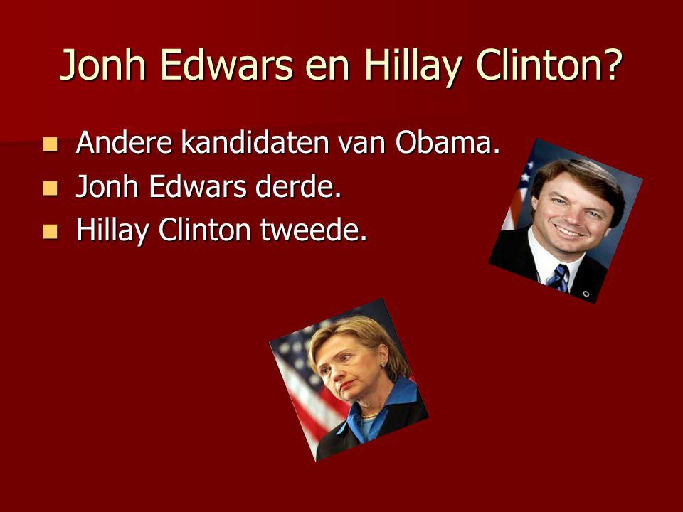Jonh Edwars en Hillay Clinton